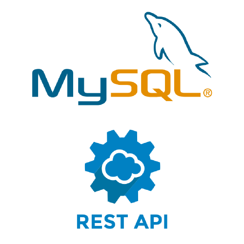 image with the logos of MySQL and REST APIs