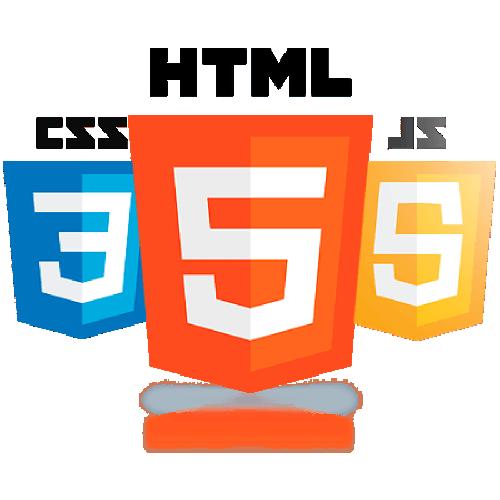 Bild mit den Logos für HTML5, CSS3 und JavaScript