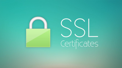 Image with a symbol for a SSL certificate